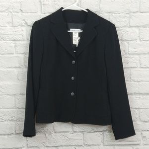 Gerard Darel  Black Stitch Edged Blazer